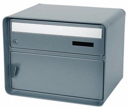 Briefkasten Lausanne hellgrau Freistehend / Sockelmontage von Huber