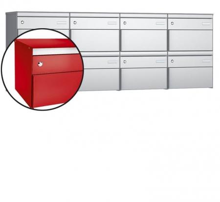 Stebler 8-er Briefkastengruppe s:box 13 Q, 4x2, Feuerrot, Wandmontage