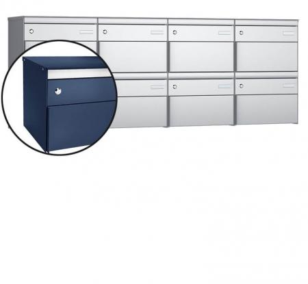 Stebler 8-er Briefkastengruppe s:box 13 Q, 4x2, Saphirblau, Wandmontage