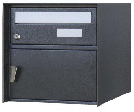 Briefkasten Verzasca Rustico Schwarz (strukturiert) Freistehend / Sockelmontage von Huber