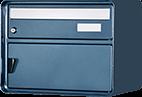 Briefkasten Lugano ozeangrau met. Freistehend / Sockelmontage von Huber
