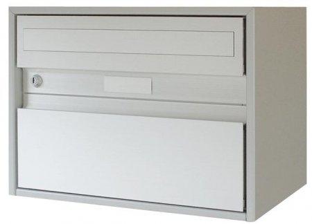 Briefkasten Alu400 weiss 415x310x290mm Freistehend / Sockelmontage von Huber
