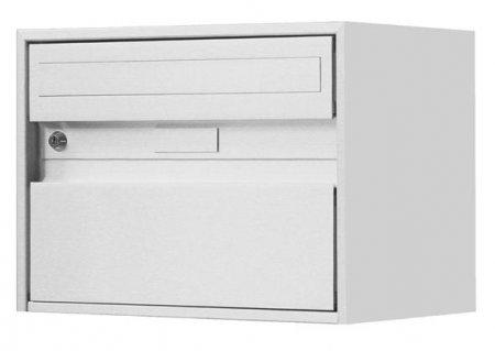 Briefkasten Alu 400 linox 415x310x290mm Wandmontage von Huber