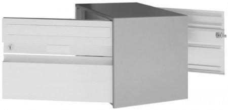 Briefkasten Alu-D 400 hellgrau (weissaluminium) durchgehend von Huber