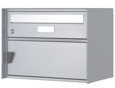 Briefkasten Genève weissaluminium Freistehend / Sockelmontage von Huber