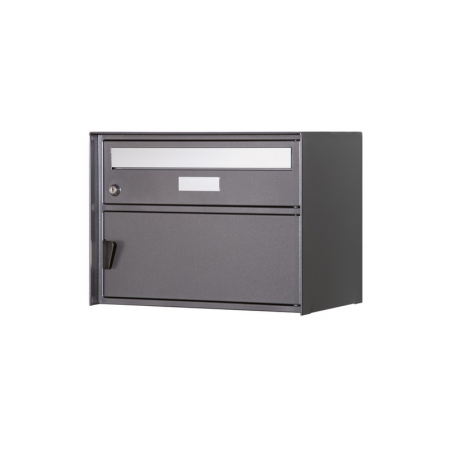 Briefkasten Genève dunkelgrau metallic Freistehend / Sockelmontage von Huber