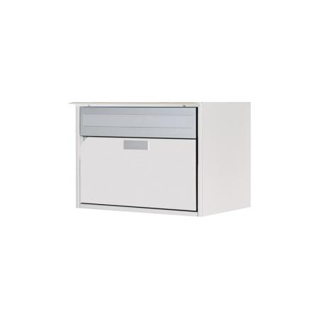 Briefkasten Alu400 reinweiss RAL 9010 Freistehend / Sockelmontage von Huber