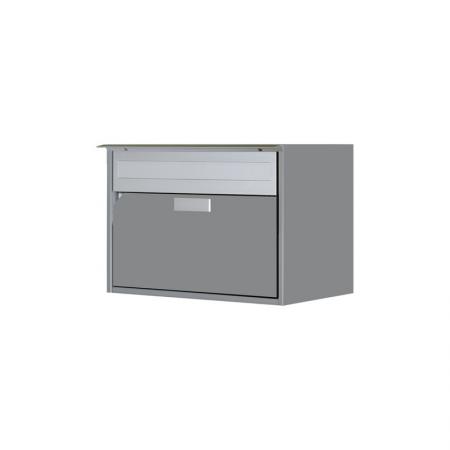Briefkasten Alu400 graualu RAL 9007 Freistehend / Sockelmontage von Huber