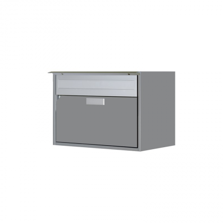Briefkasten Alu400 graualu RAL 9007 Wandmontage von Huber