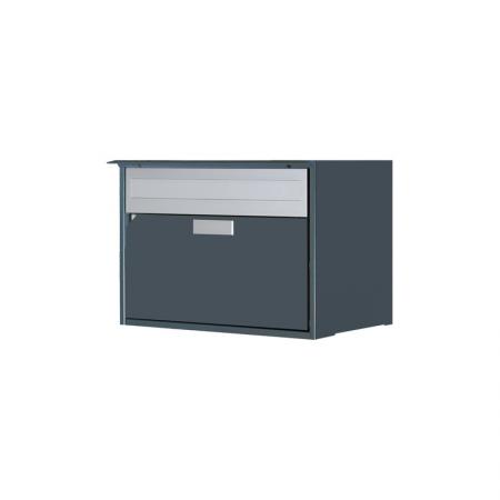 Briefkasten Alu400 schiefergrau, RAL 7015 Freistehend / Sockelmontage von Huber