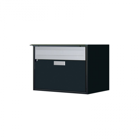 Briefkasten Alu400 schwarz IGP Trend 9 Freistehend / Sockelmontage von Huber