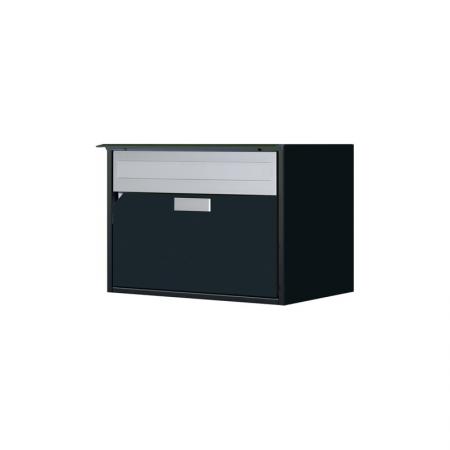 Briefkasten Alu400 schwarz IGP Trend 9 Wandmontage von Huber