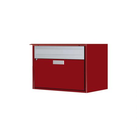 Briefkasten Alu400 rubinrot RAL 3003 Freistehend / Sockelmontage von Huber
