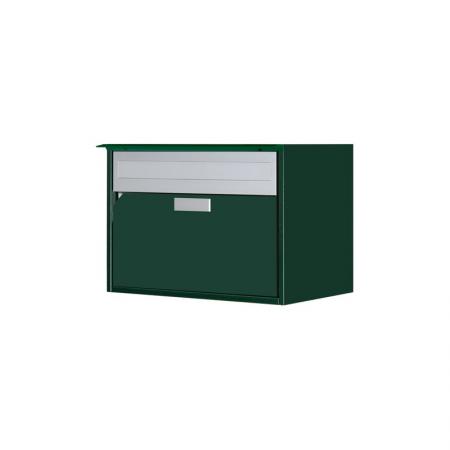 Briefkasten Alu400 dunkelgrün metallic, IGP 65780 MP Wandmontage von Huber