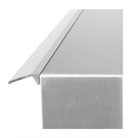 Regenschutzleiste für Briefkasten alu 400 von Huber