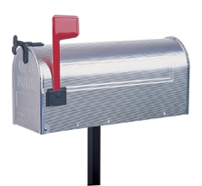 Briefkasten Mailbox ALU silber