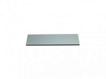 Gravurschild / Briefkastenschild selbstklebend silber 80x25 mm