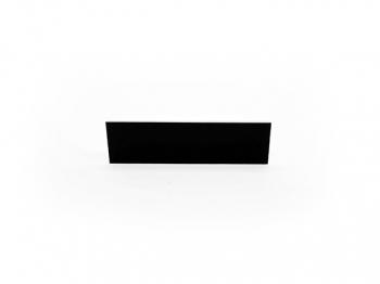 Gravurschild / Briefkastenschild selbstklebend schwarz 80x25 mm