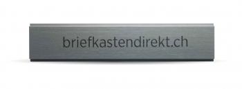 Schweizer Gravurschild / Briefkastenschild Alu farblos / natur 110 x 20 mm für Briefkasten