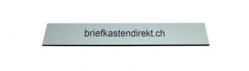 Schweizer Gravurschild / Briefkastenschild Alu farblos eloxiert 119 x 25 mm für Briefkasten