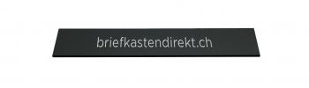 Schweizer Gravurschild / Briefkastenschild schwarz 119 x 25 mm für Briefkasten