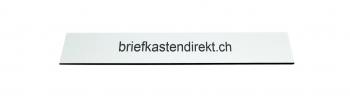 Schweizer Gravurschild / Briefkastenschild weiss 119 x 25 mm für Briefkasten