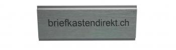 Givel 80 x 25 mm Gravurschild / Briefkastenschild in farblos eloxiert