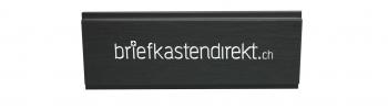 Givel 80 x 25 mm Gravurschild / Briefkastenschild in schwarz