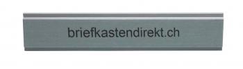 Givel/Bühler 85 x 13 mm Gravurschild / Briefkastenschild aus Aluminium