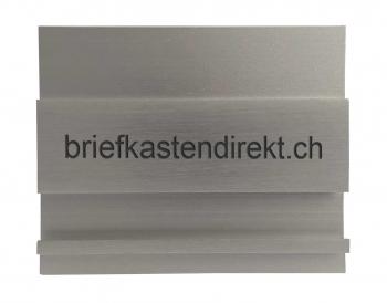 Swissbox Deluxe Werbe Gravurschild 64 x 52 mm Alu / Normschild