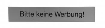 Swissbox Schild 64x11 mm Alu keine Werbung