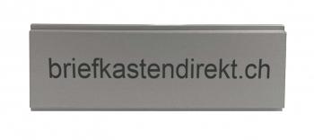 Stebler Gravurschild 60 x 21 mm natur für s:68 Briefkasten