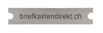 Renz Gravurschild 102 x 21.4 mm Alu silber