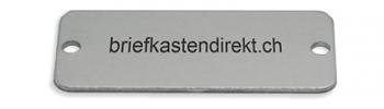 Koch Klingelschild graviert Alu farblos / natur 45x19 mm