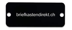 Koch Klingelschild graviert schwarz 45x19 mm