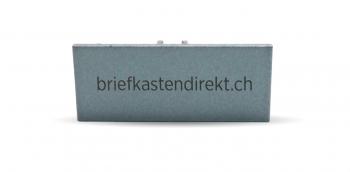 Schweizer Klingelschild IT 25 Alu farblos 54 x 25 mm