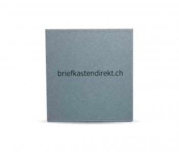 Schweizer Klingelschild IT 50 Alu farblos 54 x 50 mm