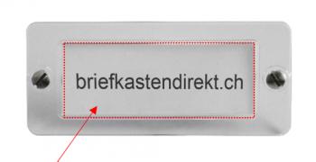 Feller 41 x 15 mm weiss Klingelschild / Gravurschild