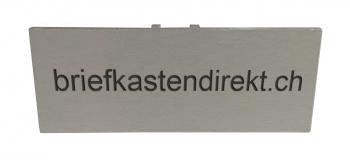 Schweizer Klingelschild S19 farblos 50 x 20 mm