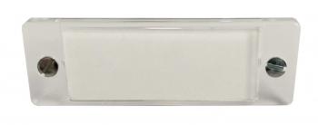 ESA transparente Sichtscheibe für Klingel 60x20 mm, mit 2 Schrauben