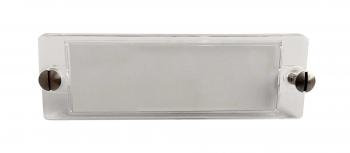 Transparentes Klingelschild Sichtscheibe LEVY 65x20 mm