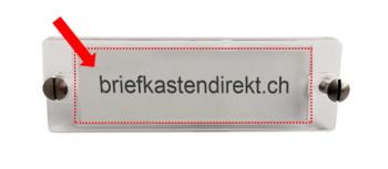 Gravurschild 43x17 mm weiss, passend zu ESA Klingelschild