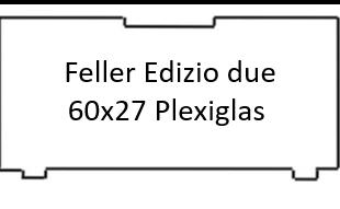 Transparente Klingelschild Abdeckung Feller Edizio 60x27 mm