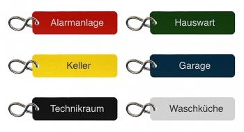 Schlüsselanhänger Set Haus und Verwaltung graviert