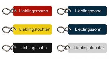 Schlüsselanhänger Set für Familie graviert