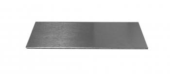 Alu Namensschild selbstklebend 80x25 mm ungraviert